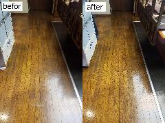 東京都江東区 店舗床清掃、ワックスがけ施工