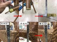 東京都港区 椅子脚カット施工