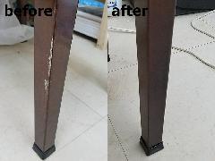 埼玉県吉川市 ピアノ椅子脚部傷補修施工