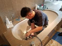 東京都 ホテル浴槽磨き施工