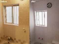 東京都練馬区 浴室壁リフォーム(パネル施工)