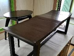 東京都台東区 サイドテーブル、ベンチ再塗装施工