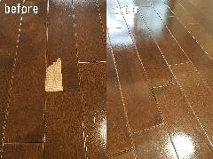 東京都豊島区 フローリング剥がれ補修施工(リペア)