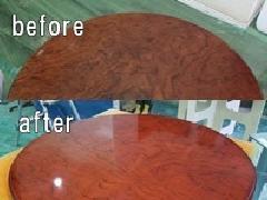 埼玉県三郷市 ちゃぶ台(テーブル)天板再塗装施工