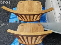 千葉県浦安市 椅子背もたれカット施工