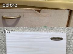 【Dr.直し屋 水戸つくば店】洗面台扉シート施工