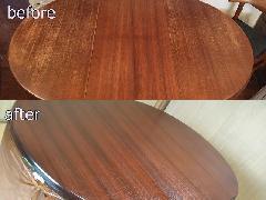 東京都杉並区 ダイニングテーブル天板再塗装施工