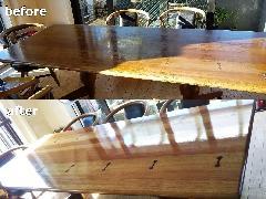 東京都文京区 テーブル天板再塗装施工