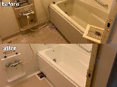 東京都江東区 浴室再生(再塗装)施工