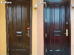 【千葉中央店】千葉県若葉区 玄関ドア再塗装施工