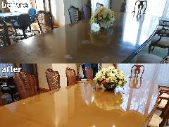 千葉県山武郡 広間テーブル天板再生施工