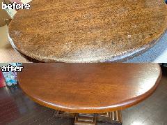 横浜県横浜市 ダイニングテーブル天板再塗装施工