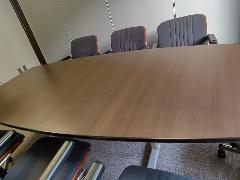 東京都中央区 会議テーブル木口塗装剥がれ補修