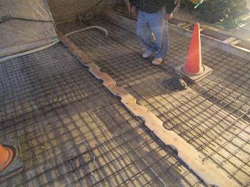 真空コンクリート リング定規幅の確認
