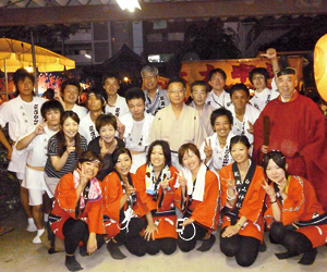 荻窪白山神社秋季例大祭での記念撮影