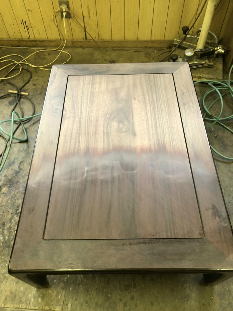 座敷机の塗り替え作業