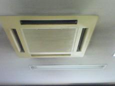 天井カセット洗浄前