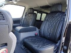 1台分セットNV350キャラバン用 IFUU高級欧州車デザインシートカバー ブラック×ブラック