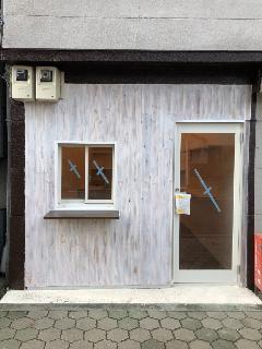 台東区蔵前 フロント壁工事