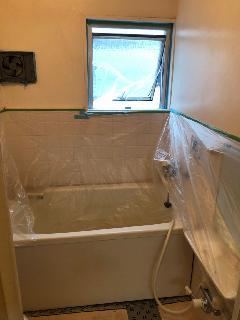 江東区 マンション 浴室塗装壁塗り替え工事