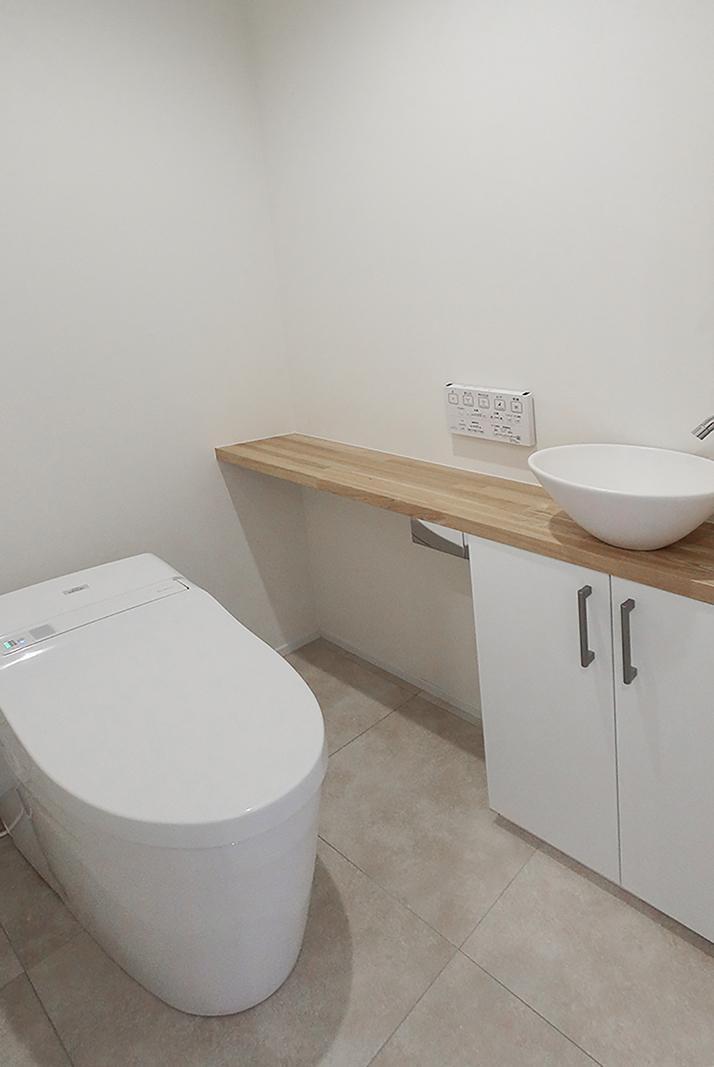 相模原市 トイレ手洗いカウンターリフォーム