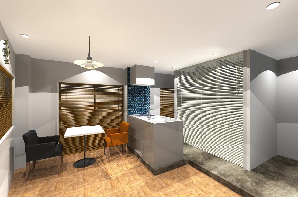3Dイメージパース アパートデザインリノベーション
