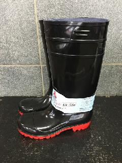 耐油長靴ロングタイプ    (ブラック/レッド)中国製