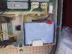 川口市のアパートで自火報受信機のバッテリーを交換