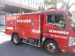 東京の物件で連結送水管の配管耐圧試験を実施しました。