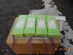 入間市の施設で防火シャッターの危害防止装置バッテリー交換作業