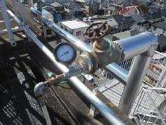埼玉県上尾市で連結送水管の配管耐圧試験を実施しました。