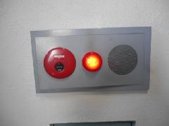 練馬区のビルで自動火災報知設備の表示灯交換作業