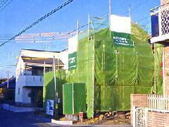 戸建新築の足場工事