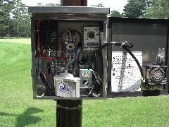 ゴルフ場 扇風機動力電源工事