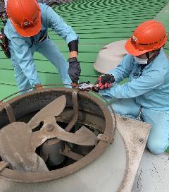 千葉県内 某物流センター換気扇更新工事