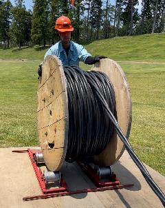 千葉県内 某ゴルフ場・高圧ケーブル工事