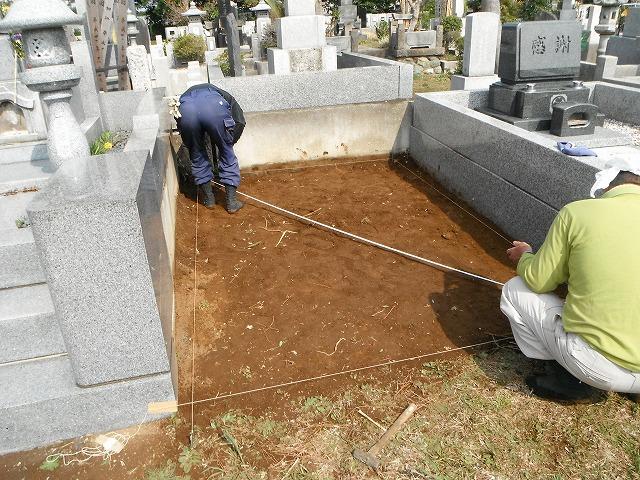 基礎工事 墓石 八柱霊園