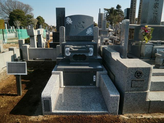 八柱霊園 新規 墓地 墓石 墓所 洋型 デザイン墓石
