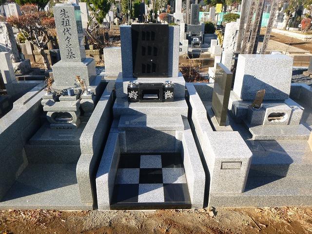 八柱霊園 2�u 新規墓地 デザイン墓石