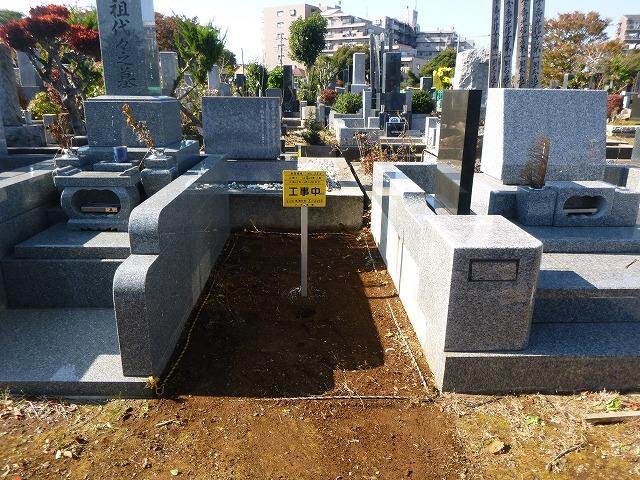八柱霊園 墓石工事 基礎工事 2�u 新規墓所