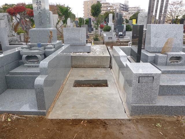 八柱霊園 墓石工事 2�u 墓