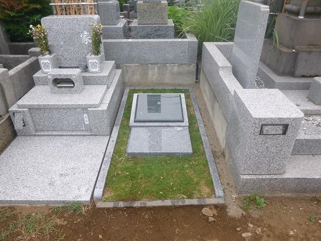 インド産御影石 墓石 工事