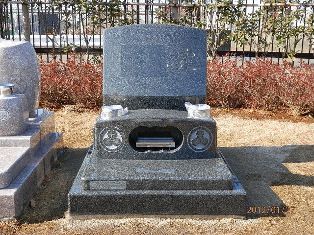 芝生墓地 墓所 インド産御影石 黒牡丹