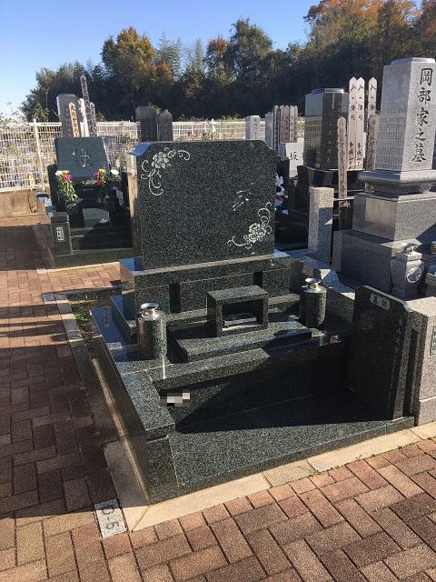 新埼玉霊園 洋型 デザイン墓石
