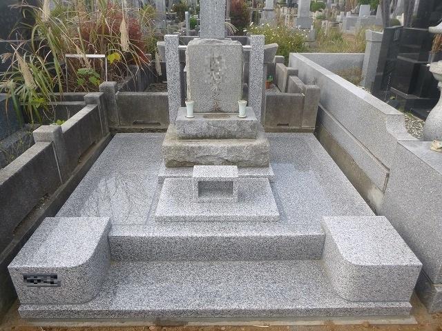 墓所リフォーム工事 墓地