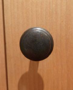 アイアン風つるつる仕上げ/ 真鍮organオリジナル取っ手・つまみ004