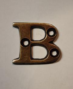 organオリジナル真鍮文字プレート/アルファベットB002