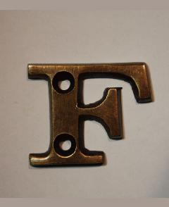 organオリジナル真鍮文字プレート/アルファベットF006