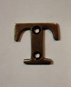 organオリジナル真鍮文字プレート/アルファベットT020