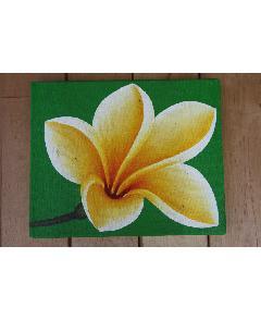 プルメリア(アートパネル、アート絵画、ハンドメイド) グリーン